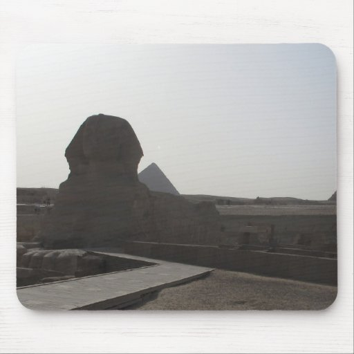The Sphinx, the Pyramids of Giza Mousepads