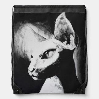 The Sphynx Cat Feline Original Art Backpack
