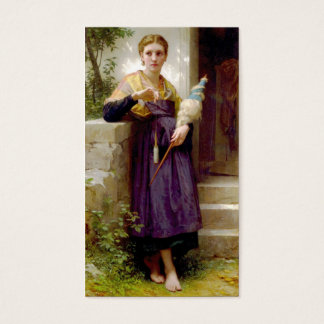The Spinner, William-Adolphe Bouguereau Business Card