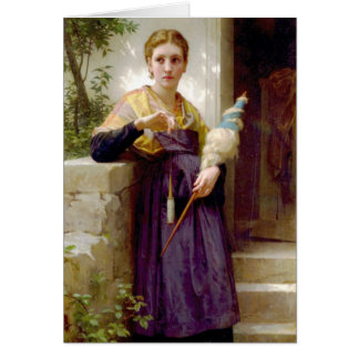 The Spinner, William-Adolphe Bouguereau Card