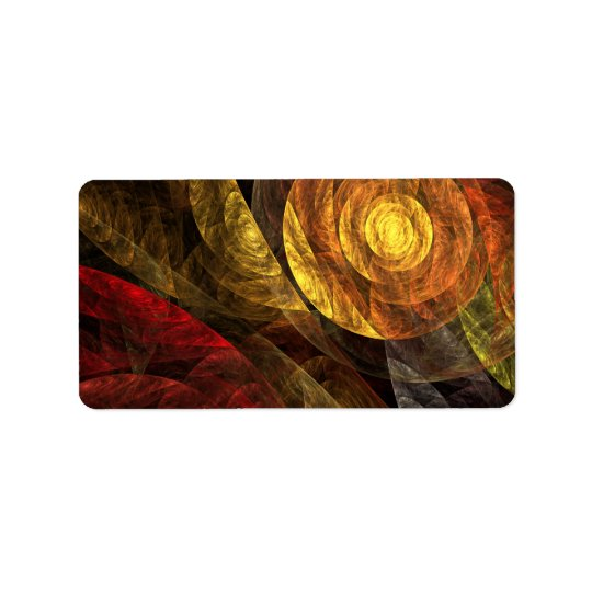 The Spiral of Life Abstract Art Address Label