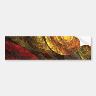 The Spiral of Life Abstract Art Bumper Sticker