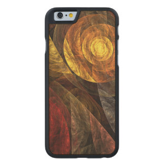 The Spiral of Life Abstract Art Carved Maple iPhone 6 Case