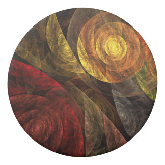 The Spiral of Life Abstract Art Eraser