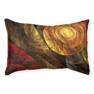 The Spiral of Life Abstract Art Pet Bed