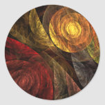 The Spiral of Life Abstract Art Round Sticker