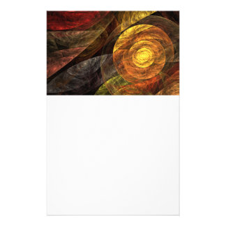 The Spiral of Life Abstract Art Stationery