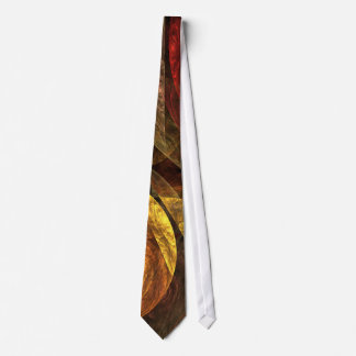 The Spiral of Life Abstract Art Tie