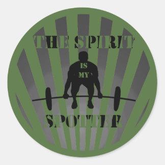 The Spirit is My Spotter Round Sticker