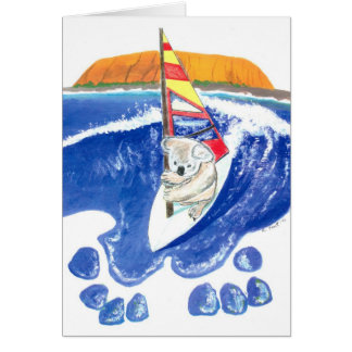 The Spirit of Australia - Koala Bear wind surfing Card