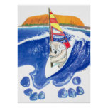 The Spirit of Australia - Koala Bear Wind Surfing Posters