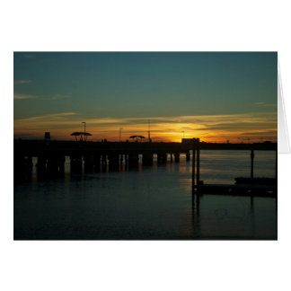The splendor of a sunset! card