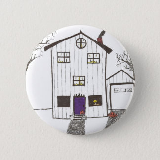 The Spooky House 6 Cm Round Badge