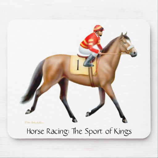 The Sport of Kings Racehorse Mouse Mat Mouse Pad