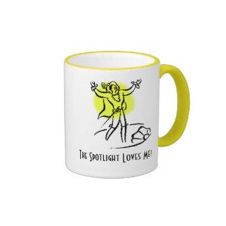 The Spotlight Loves Me! w/KBP on back Ringer Coffee Mug