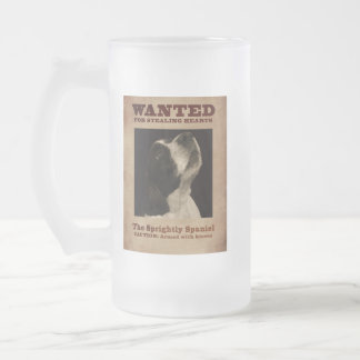 The Sprightly Springer Spaniel Frosted Glass Beer Mug