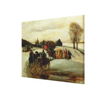 The Spring Pilgrimage of the Tsarina Gallery Wrap Canvas