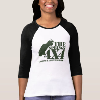 The Springs 4X4 Womens 3/4 Sleeve T-Shirt (Black)