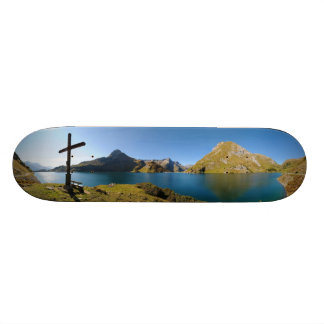 The Spullersee Mountain Lake Vorarlberg Austria Custom Skate Board