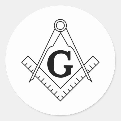 The Square and Compasses Freemasonry Symbol Stickers