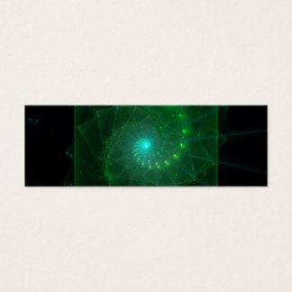 """""""The Square Green Worm"""" Fractal Art Mini Business Card"""