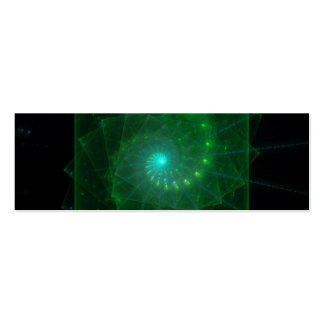 """""""The Square Green Worm"""" Fractal Art Pack Of Skinny Business Cards"""