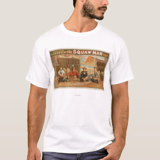 """""""The Squaw Man"""" - The Pipe of Peace Theatre T-Shirt"""