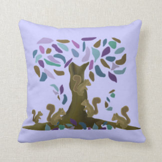 The Squirrels Treehouse American Mojo Pillow