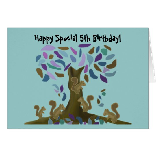 The Squirrel's Treehouse Birthday Card