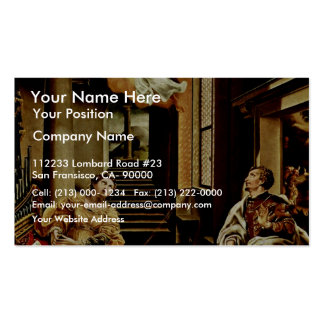 The St Cecilia And St Valerian By Orsi Lelio Be Business Card