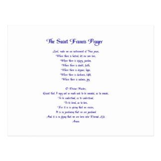 The St Francis Peace Prayer Postcard