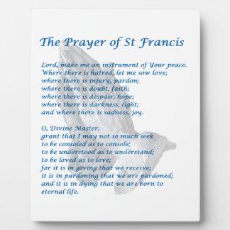 The St Francis Prayer Plaque