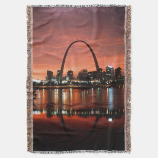 The St. Louis Arch at Dusk Photograph Throw Blanket