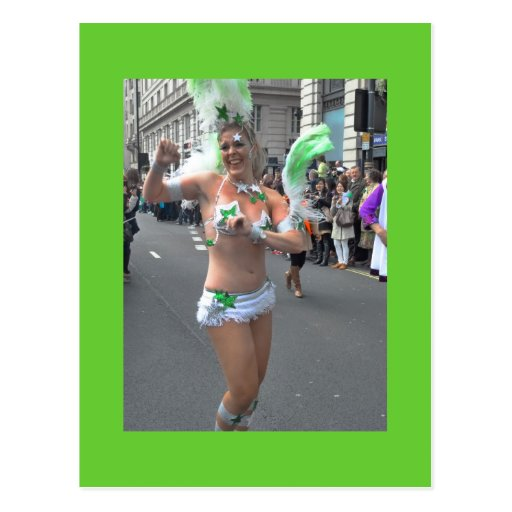 The St Patrick's Day Parade, London Post Card