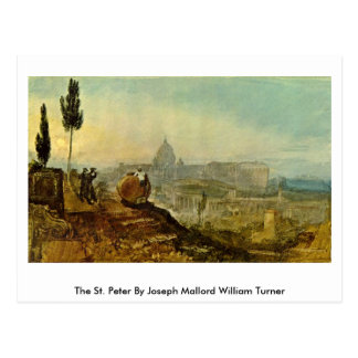 The St. Peter By Joseph Mallord William Turner Postcard
