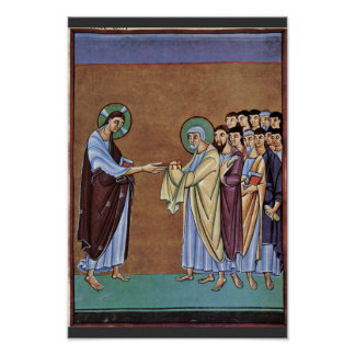 The St. Peter Receiving The Keys By Meister Des Pe Poster