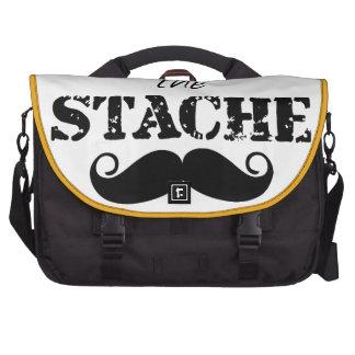 The Stache Moustache Pattern Laptop Bag