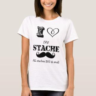 The Stache Moustache Pattern T-Shirt