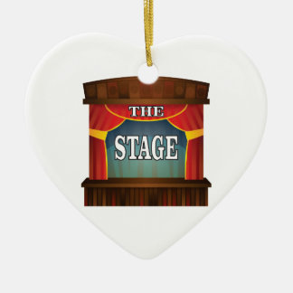 the stage goes on ceramic ornament