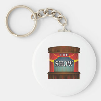 the stage show basic round button key ring