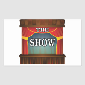the stage show rectangular sticker