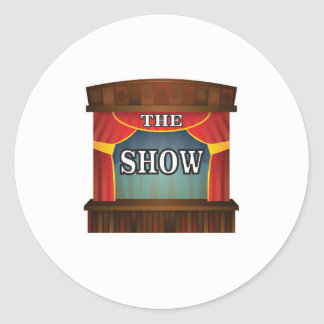the stage show round sticker
