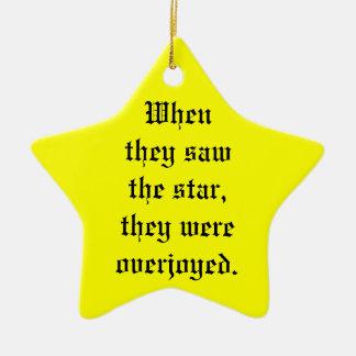 The Star Ceramic Star Decoration