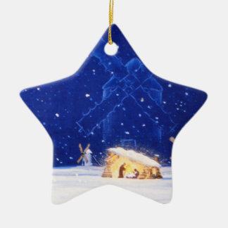 The Star of Bethlehem & DON QUIXOTE Ceramic Ornament