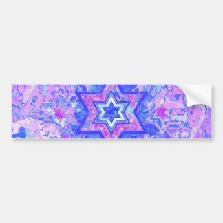 The Star of David... on marble. Bumper Sticker