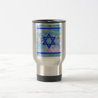 The Star of David on Marble Travel Mug