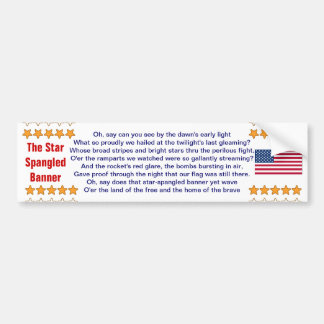 The Star Spangled Banner bumper sticker