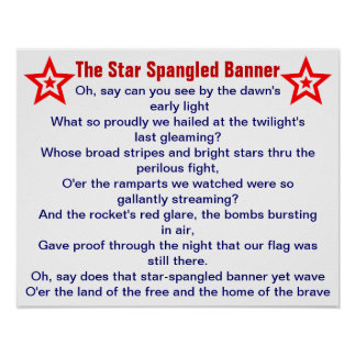 The Star Spangled Banner poster