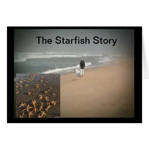 The Starfish Story Card