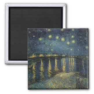 The Starry Night, 1888 Square Magnet